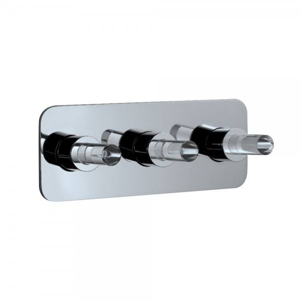 2-Way Diverter with Hot & Cold In-wall Stop Valves