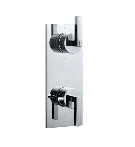In-wall thermostatic shower valve